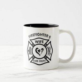 Firefighters Wife Two-Tone Coffee Mug