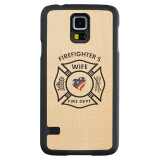 Firefighters Wife USA Carved® Maple Galaxy S5 Slim Case