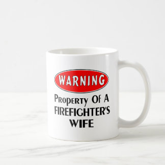 Firefighters Wife Warning Coffee Mug