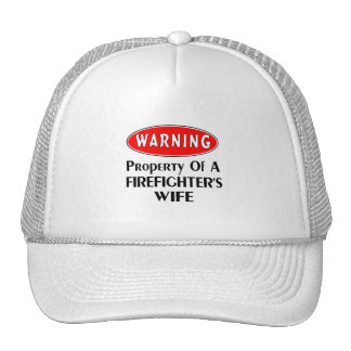 Firefighters Wife Warning Trucker Hat