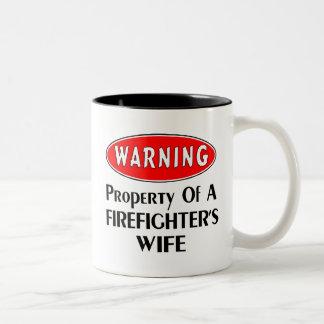 Firefighters Wife Warning Coffee Mugs
