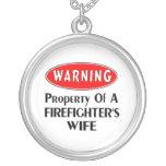 Firefighters Wife Warning Pendants