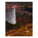 Firefighting Helicopter Posters