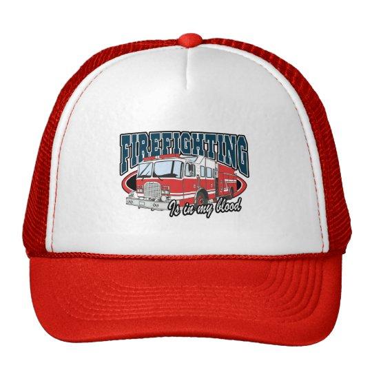 Firefighting is in my Blood Trucker Hat