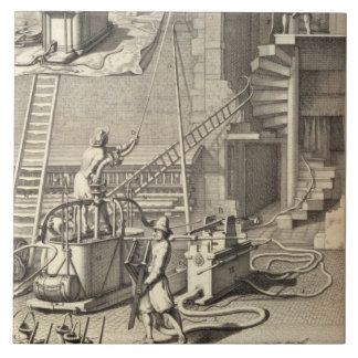 Firefighting Machinery, from a book on Firefightin Tile