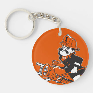 Firefighting Pete - Color Double-Sided Round Acrylic Keychain