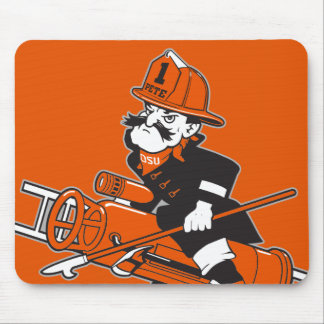 Firefighting Pete - Color Mouse Pad