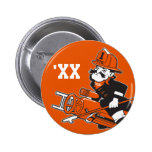 Firefighting Pete - Color Pinback Button