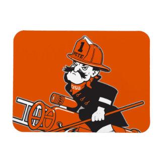 Firefighting Pete - Color Rectangular Photo Magnet