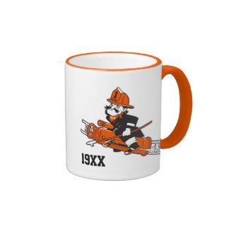 Firefighting Pete - Color Ringer Mug