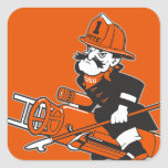 Firefighting Pete - Color Square Sticker