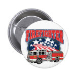 Firefighting Truck 2 Inch Round Button