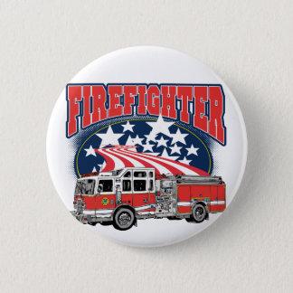 Firefighting Truck Pinback Button