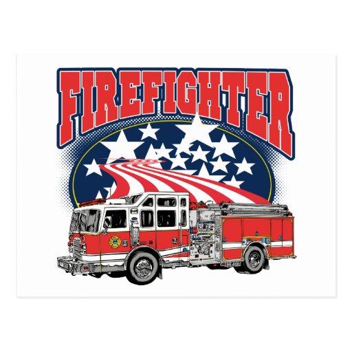 Firefighting Truck Postcards