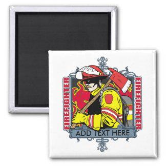 Firefirefighter de encargo imán para frigorifico