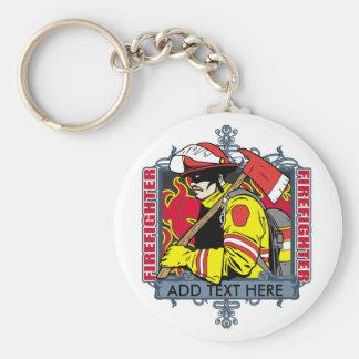 Firefirefighter de encargo llavero redondo tipo pin