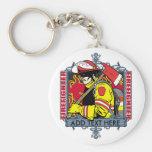 Firefirefighter de encargo llaveros personalizados