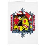 Firefirefighter de encargo tarjeton