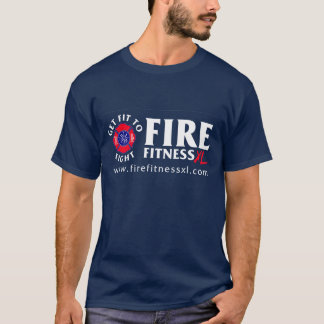 FireFitnessXL Basic Navy T-Shirt