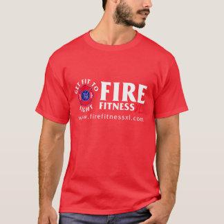 FireFitnessXL Basic Red T-Shirt