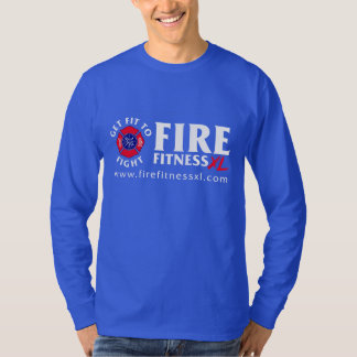 FireFitnessXL Blue Nano Long Sleeve T-Shirt
