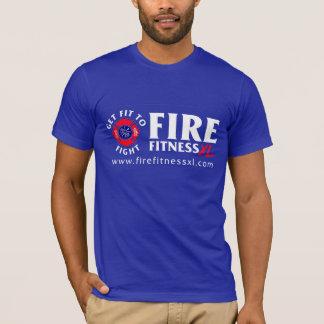 FireFitnessXL Blue Unisex T-shirt