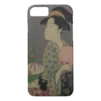 Fireflies, 1793 (colour woodcut) iPhone 8/7 case