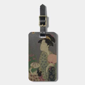 Fireflies, 1793 (colour woodcut) bag tag
