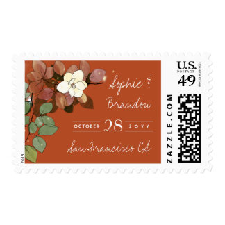 Fireflies and Magnolias Fall Garden Save the Date Postage