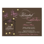 "Fireflies and Mason Jar Bridal Shower - Brown 5"" X 7"" Invitation Card"