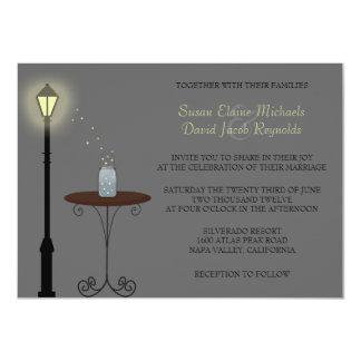 Fireflies and Mason Jar Wedding Invitation