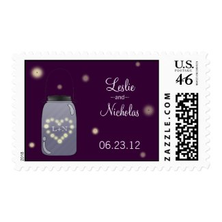 Fireflies and Mason Jar Wedding Stamp zazzle_stamp
