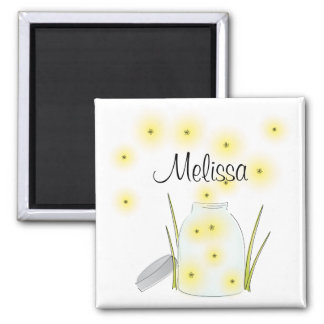 Fireflies Flying 2 Inch Square Magnet