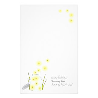Fireflies Flying Stationery