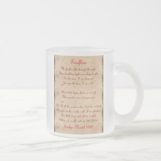 Fireflies Frosted Glass Coffee Mug