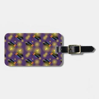 Fireflies Graphic on Purple Travel Bag Tag