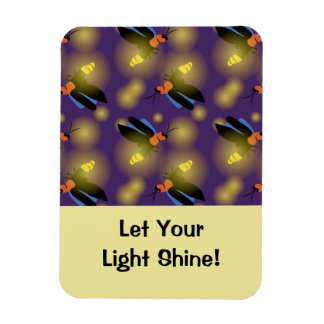 Fireflies Graphic on Purple Magnet