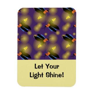 Fireflies Graphic on Purple Rectangular Photo Magnet