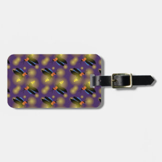 Fireflies Graphic on Purple Travel Bag Tag