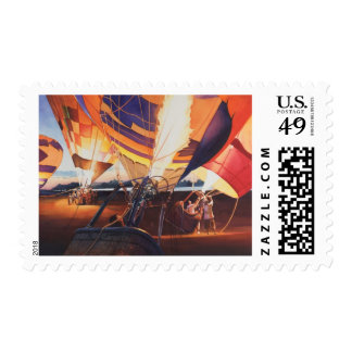 """""""Fireflies"""" Hot Air Balloons At Sunrise Stamps"""