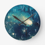 Fireflies -illustrated custom Children's Clock