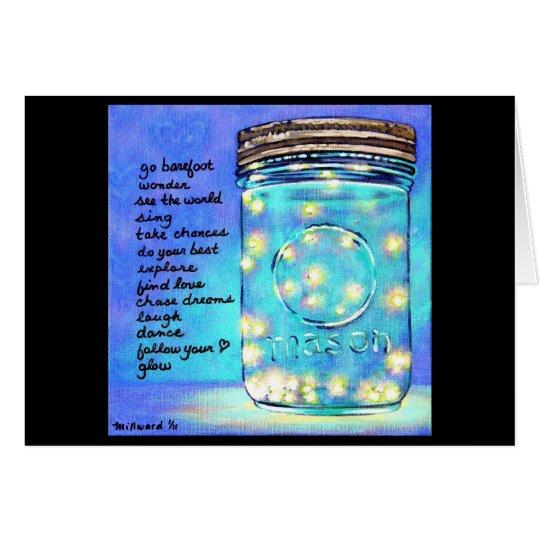 Fireflies in a Jar Notecard ©MillwardStudios 2011