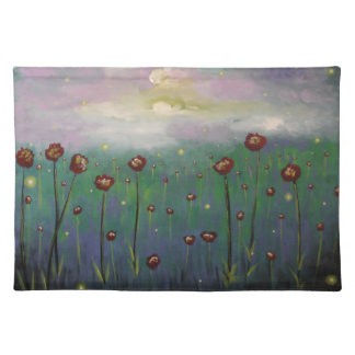 Fireflies in Roses Cloth Placemat