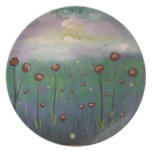 Fireflies in Roses Plates