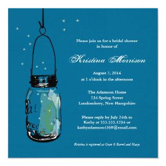 Fireflies & Mason Jar Bridal Shower Card