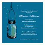 Fireflies & Mason Jar Bridal Shower Personalized Invitation