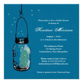Fireflies Mason Jar Bridal Shower Personalized Invitation