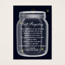 fireflies mason jar Gift registry  Cards