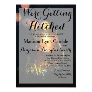 Fireflies Mason Jar Rustic Garden/Invitation Card