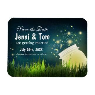 Fireflies + Mason Jar Rustic Night Date Magnet